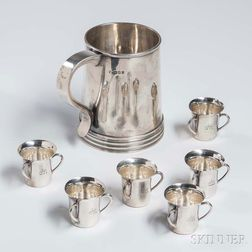 Seven English Silver Drinking Items